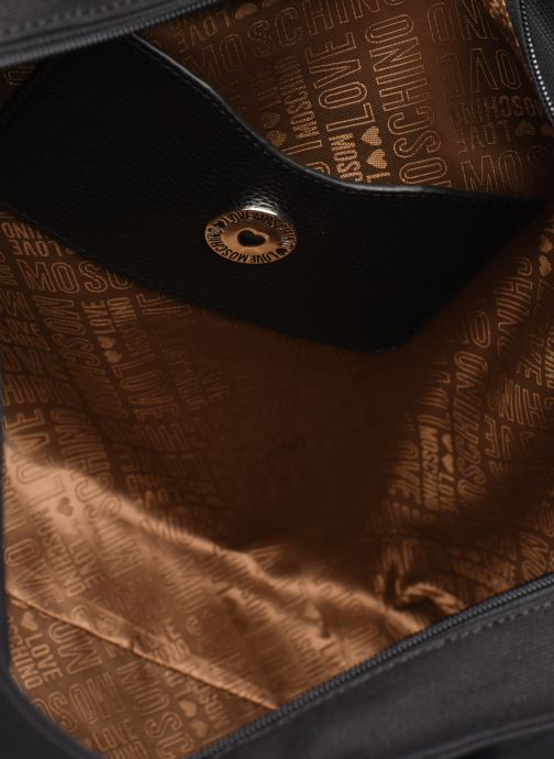 Handbags Love Moschino THE CANVAS HEARTS CABAS Black back view