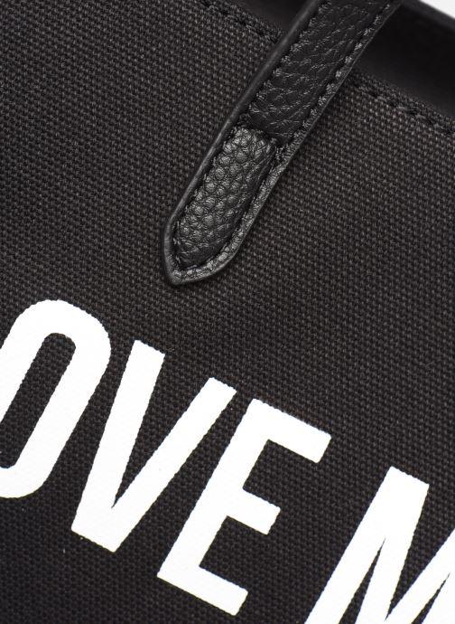 Sacs à main Love Moschino THE CANVAS HEARTS CABAS Noir vue gauche