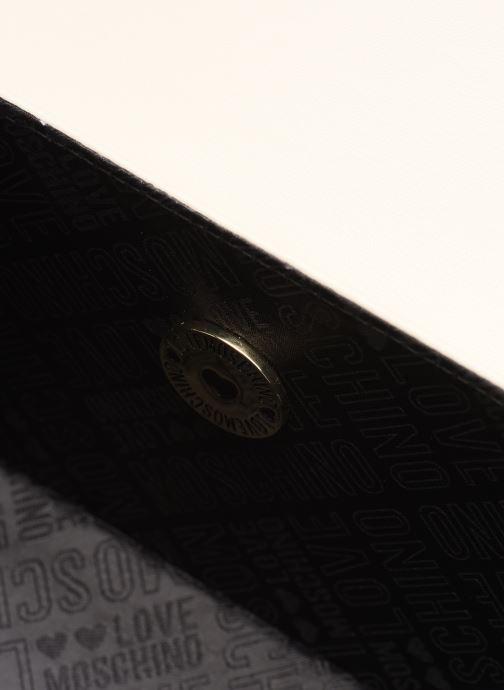 Handtassen Love Moschino EVENING BAG FLOWERS LOVE Wit achterkant