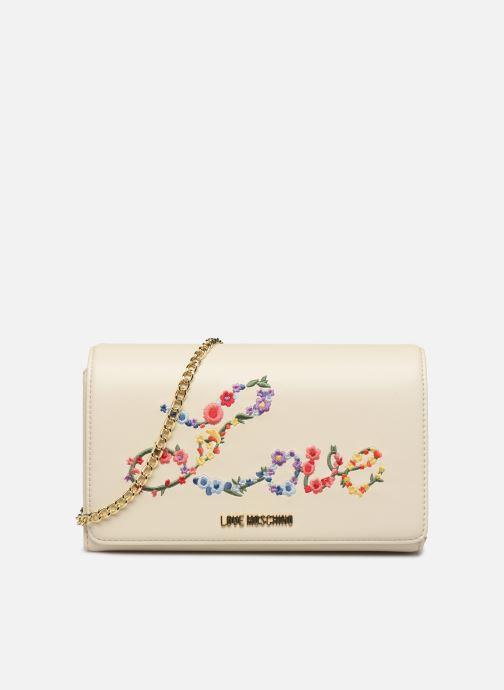 Handtaschen Love Moschino EVENING BAG FLOWERS LOVE weiß detaillierte ansicht/modell