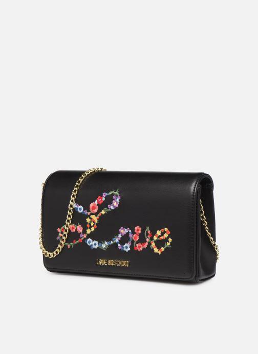 Bolsos de mano Love Moschino EVENING BAG FLOWERS LOVE Negro vista del modelo