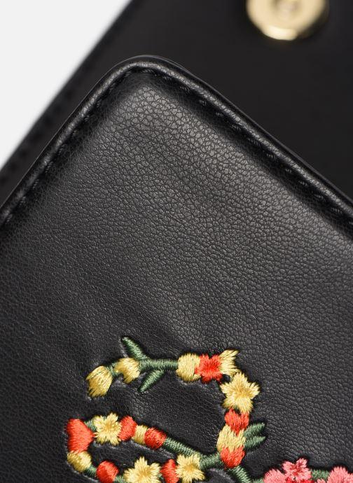 Bolsos de mano Love Moschino EVENING BAG FLOWERS LOVE Negro vista lateral izquierda