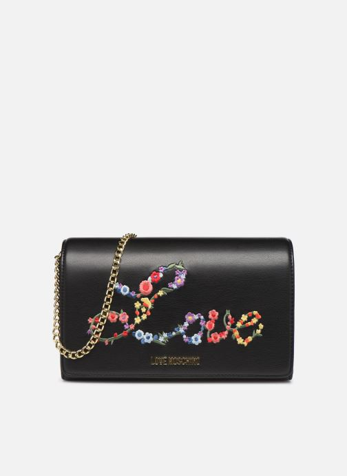 Bolsos de mano Love Moschino EVENING BAG FLOWERS LOVE Negro vista de detalle / par