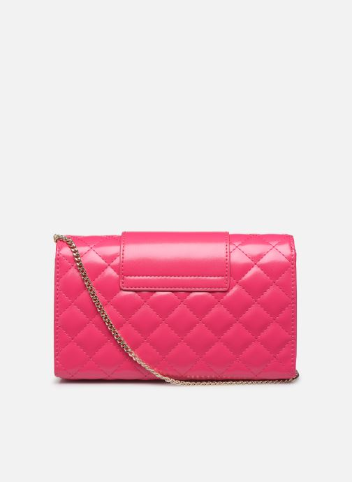 Sacs à main Love Moschino NEW SHINY QUILTED CROSSBODY Rose vue face