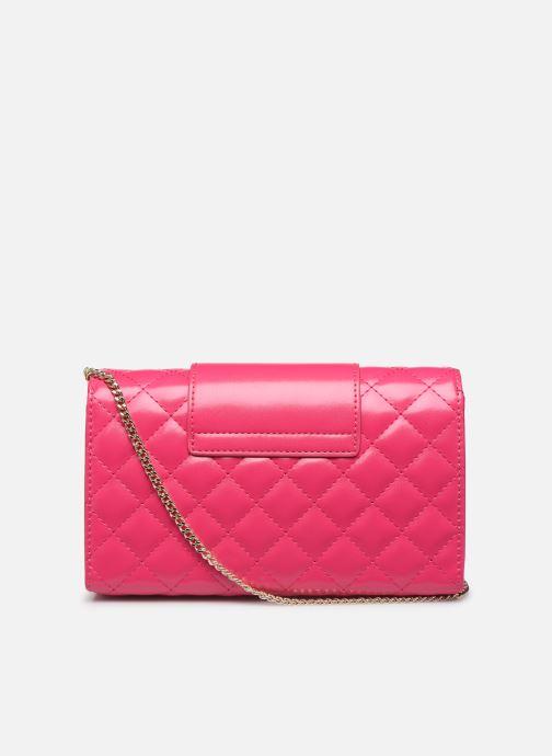 Handtaschen Love Moschino NEW SHINY QUILTED CROSSBODY rosa ansicht von vorne