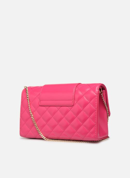 Sacs à main Love Moschino NEW SHINY QUILTED CROSSBODY Rose vue droite