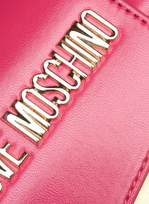 Handtaschen Love Moschino NEW SHINY QUILTED CROSSBODY rosa ansicht von links