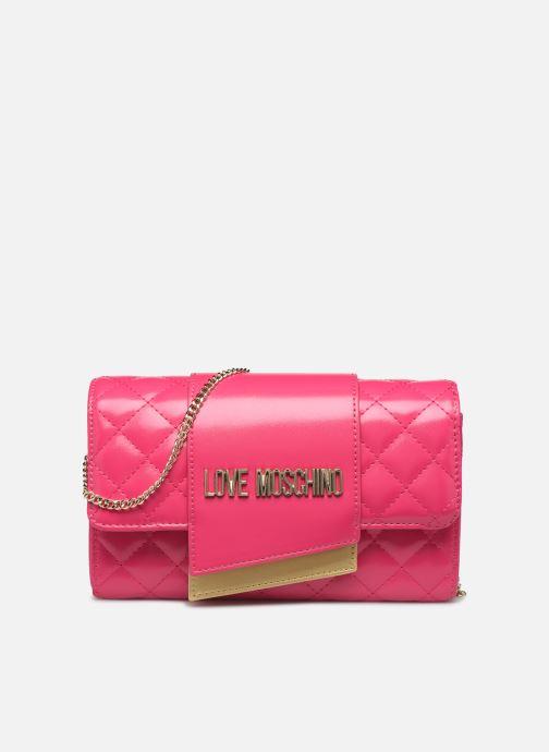 Handtaschen Love Moschino NEW SHINY QUILTED CROSSBODY rosa detaillierte ansicht/modell