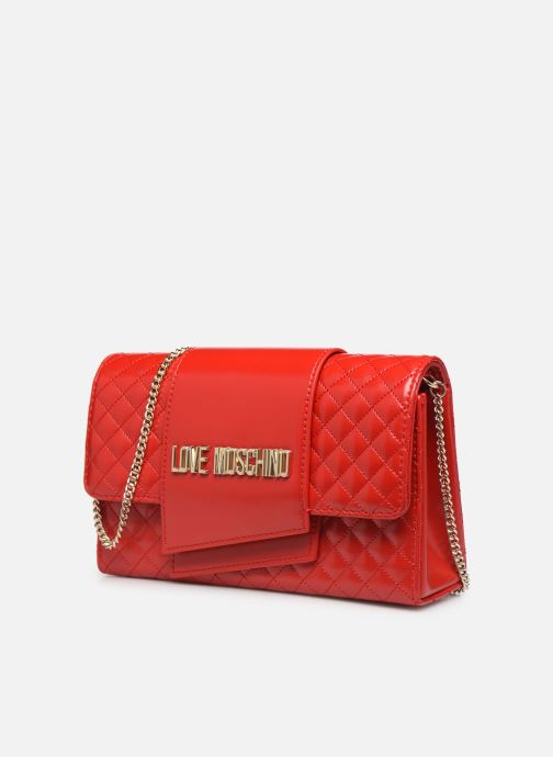 Handbags Love Moschino NEW SHINY QUILTED Red model view