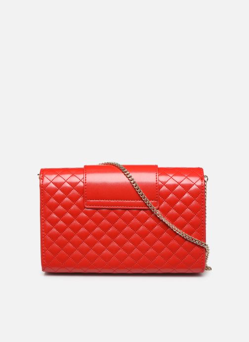 Handbags Love Moschino NEW SHINY QUILTED Red front view