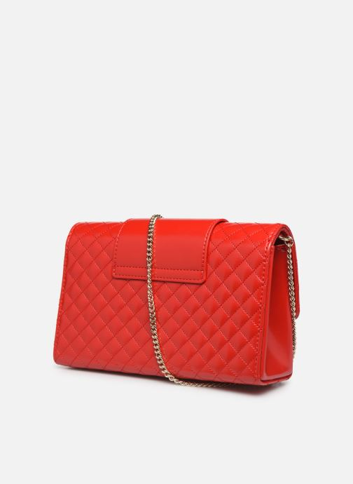 Handbags Love Moschino NEW SHINY QUILTED Red view from the right