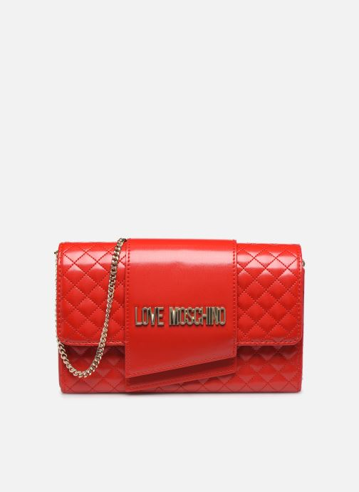 Handbags Love Moschino NEW SHINY QUILTED Red detailed view/ Pair view