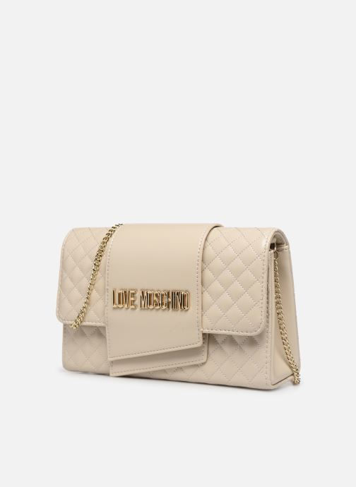 Handbags Love Moschino NEW SHINY QUILTED Beige model view
