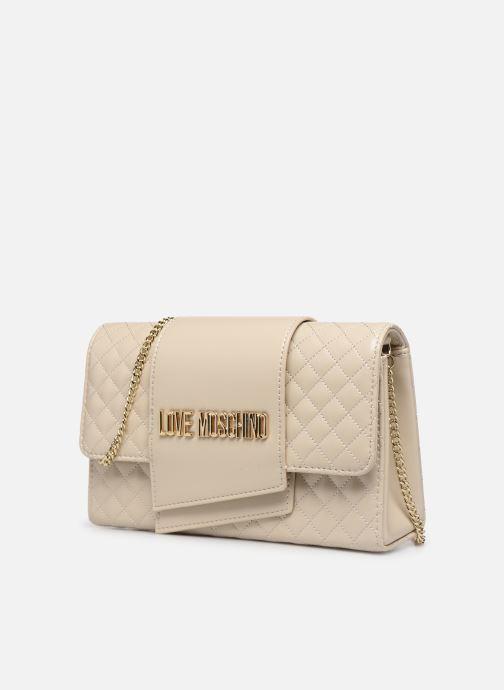 Bolsos de mano Love Moschino NEW SHINY QUILTED Beige vista del modelo
