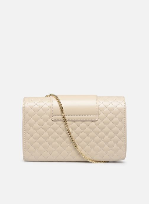 Handbags Love Moschino NEW SHINY QUILTED Beige front view