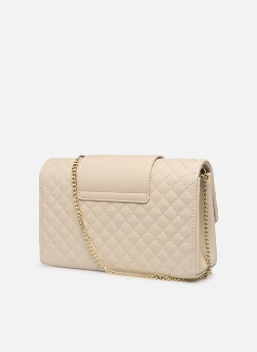 Handbags Love Moschino NEW SHINY QUILTED Beige view from the right