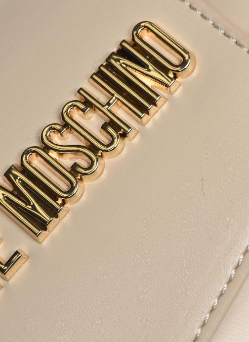 Bolsos de mano Love Moschino NEW SHINY QUILTED Beige vista lateral izquierda