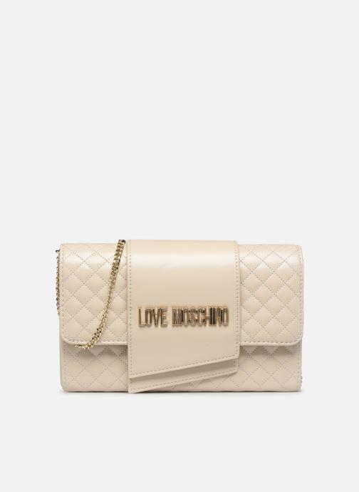 Bolsos de mano Love Moschino NEW SHINY QUILTED Beige vista de detalle / par