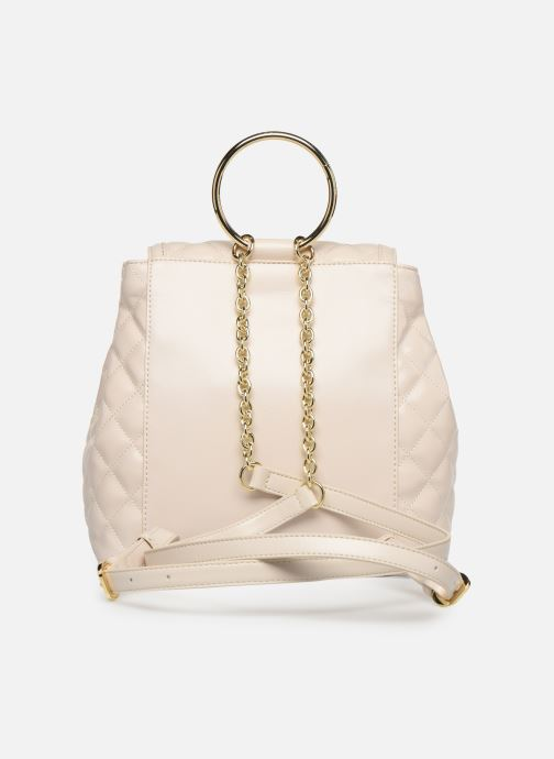 Sacs à dos Love Moschino NEW SHINY QUILTED BACKPACK Beige vue face