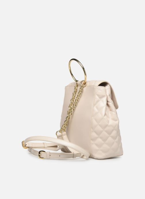 Sacs à dos Love Moschino NEW SHINY QUILTED BACKPACK Beige vue droite