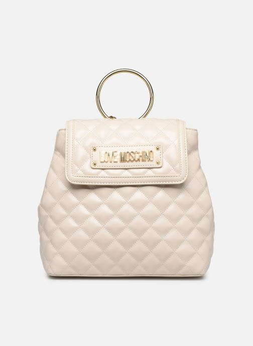 Sacs à dos Love Moschino NEW SHINY QUILTED BACKPACK Beige vue détail/paire
