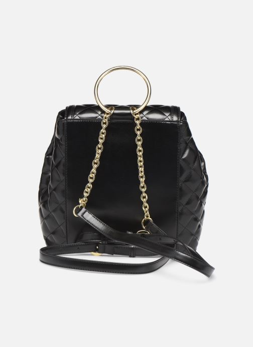 Mochilas Love Moschino NEW SHINY QUILTED BACKPACK Negro vista de frente