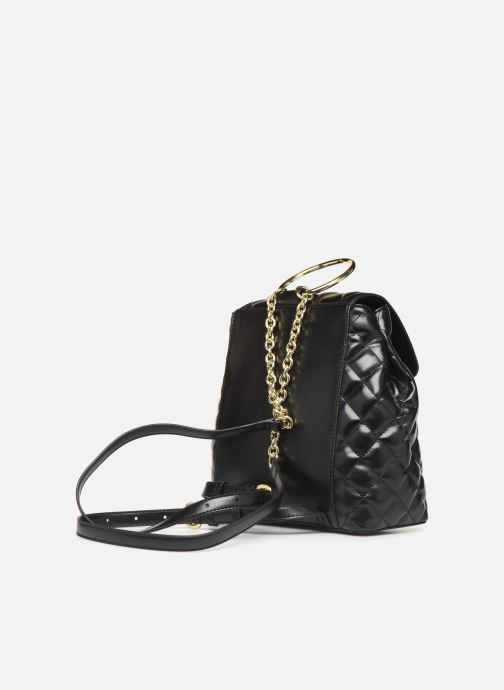 Mochilas Love Moschino NEW SHINY QUILTED BACKPACK Negro vista lateral derecha