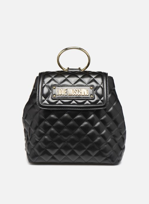 Mochilas Love Moschino NEW SHINY QUILTED BACKPACK Negro vista de detalle / par