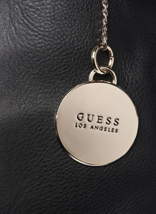 Handtaschen Guess CARRY SATCHEL schwarz ansicht von links