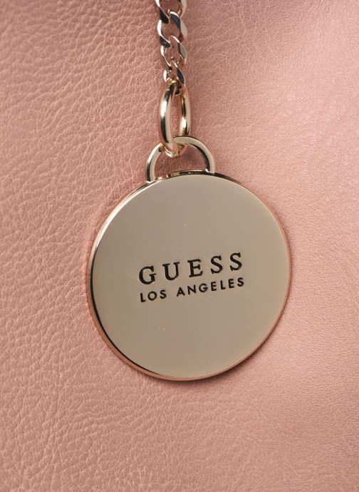 Handtassen Guess CARRY SATCHEL Roze achterkant