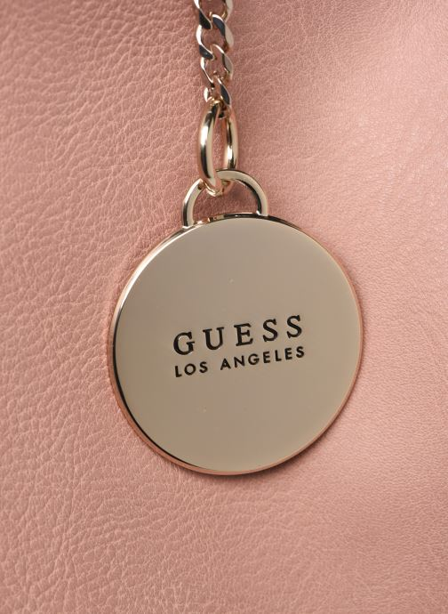 Handbags Guess CARRY SATCHEL Pink back view
