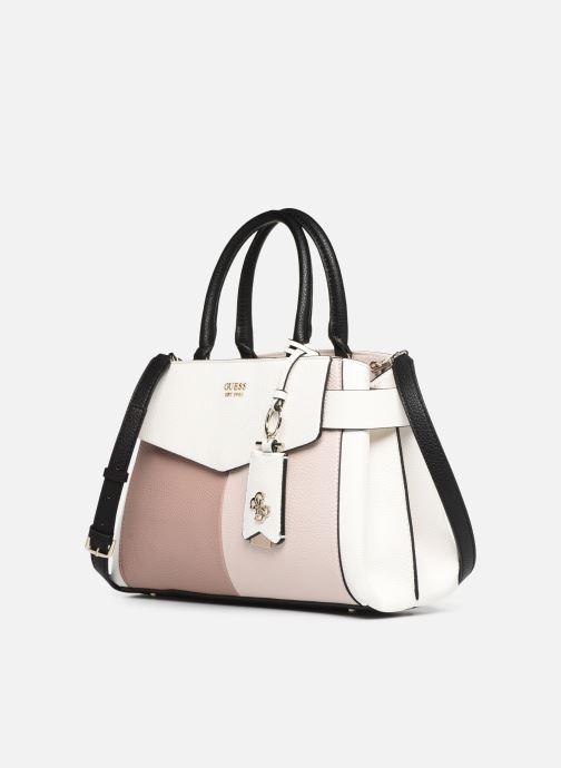 Handväskor Guess COLETTE GIRLFRIEND SATCHEL Rosa bild av skorna på