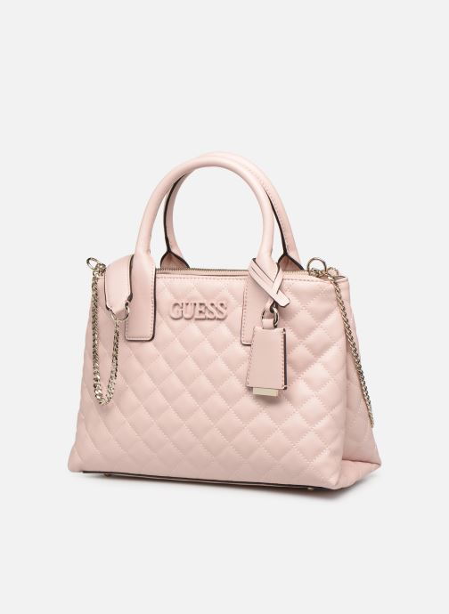 Handbags Guess ELLIANA STATUS SATCHEL Pink model view