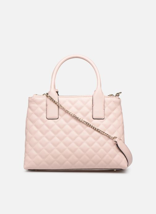 Handbags Guess ELLIANA STATUS SATCHEL Pink front view