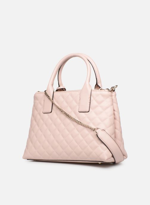Handbags Guess ELLIANA STATUS SATCHEL Pink view from the right