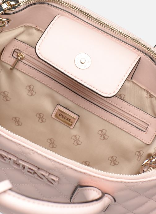 Handbags Guess ELLIANA STATUS SATCHEL Pink back view