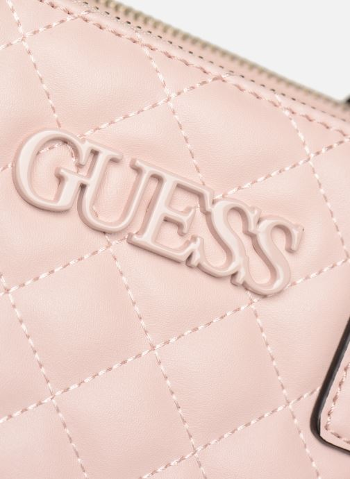 Sacs à main Guess ELLIANA STATUS SATCHEL Rose vue gauche
