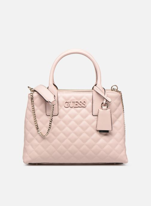 Handbags Guess ELLIANA STATUS SATCHEL Pink detailed view/ Pair view