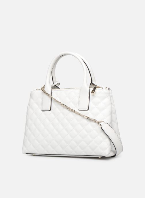 Handbags Guess ELLIANA STATUS SATCHEL White view from the right