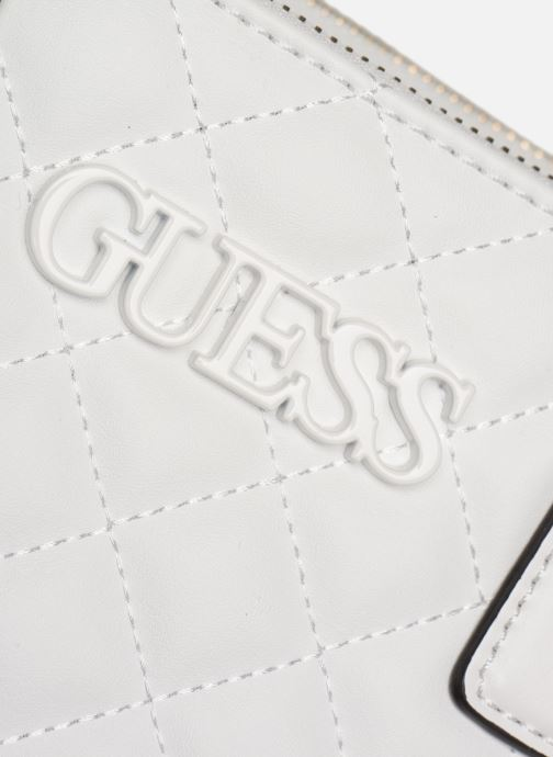 Handbags Guess ELLIANA STATUS SATCHEL White view from the left