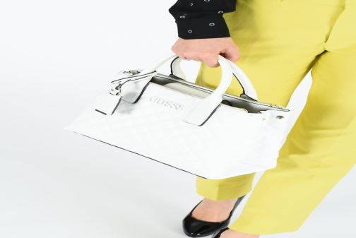 Handbags Guess ELLIANA STATUS SATCHEL White view from above