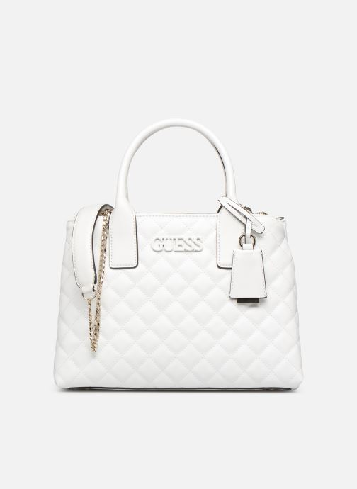 Handbags Guess ELLIANA STATUS SATCHEL White detailed view/ Pair view