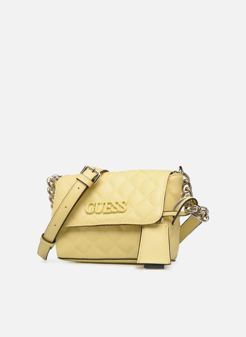Handtassen Guess ELLIANA MINI CROSSBODY FLAP Geel model