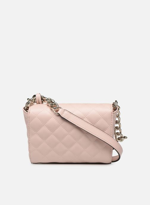 Bolsos de mano Guess ELLIANA MINI CROSSBODY FLAP Rosa vista de frente