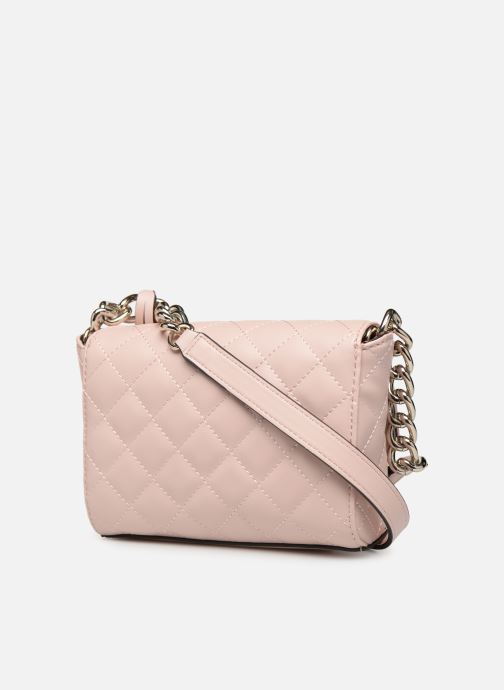 Bolsos de mano Guess ELLIANA MINI CROSSBODY FLAP Rosa vista lateral derecha