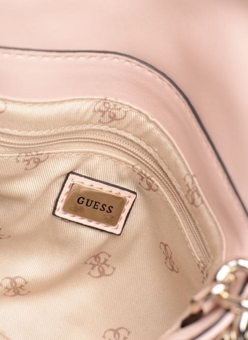 Handtassen Guess ELLIANA MINI CROSSBODY FLAP Roze achterkant