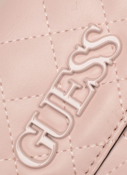 Handtaschen Guess ELLIANA MINI CROSSBODY FLAP rosa ansicht von links