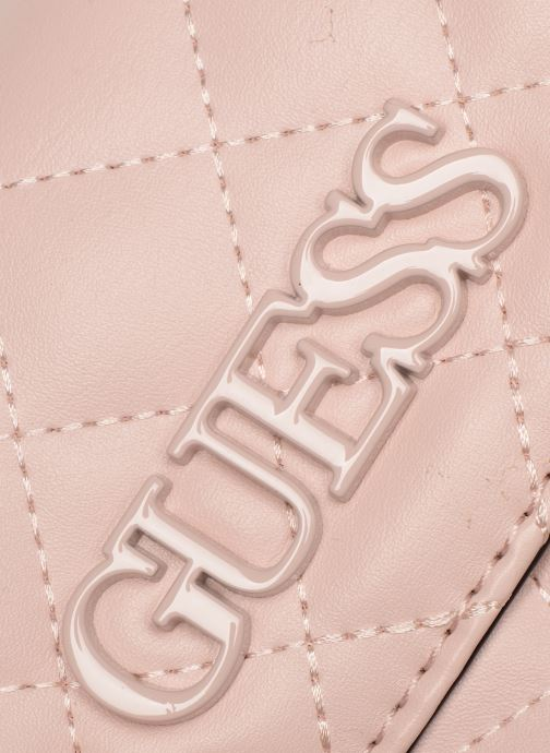 Bolsos de mano Guess ELLIANA MINI CROSSBODY FLAP Rosa vista lateral izquierda