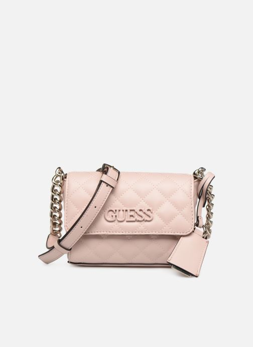Bolsos de mano Guess ELLIANA MINI CROSSBODY FLAP Rosa vista de detalle / par