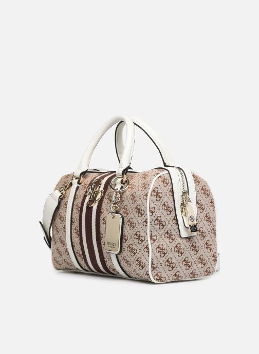 Handtaschen Guess GUESS VINTAGE BOX SATCHEL beige schuhe getragen